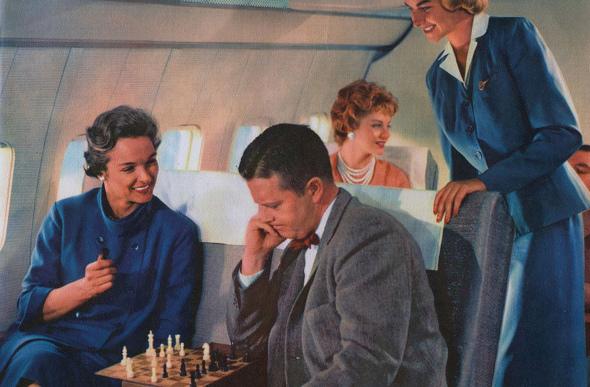 chess on plane