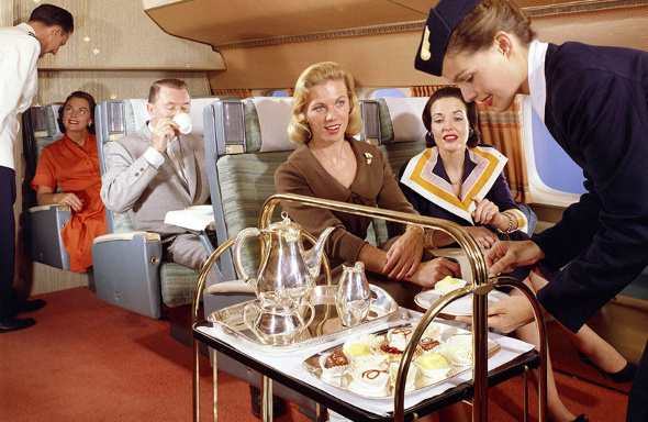 trolley service on plane