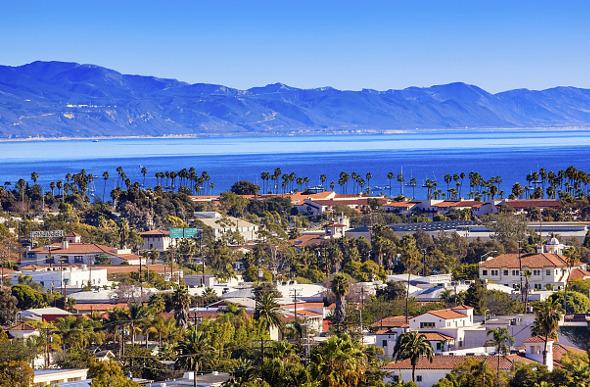 The coast of Santa Barbara