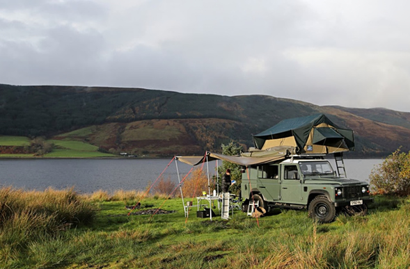 Glamping Land Rover