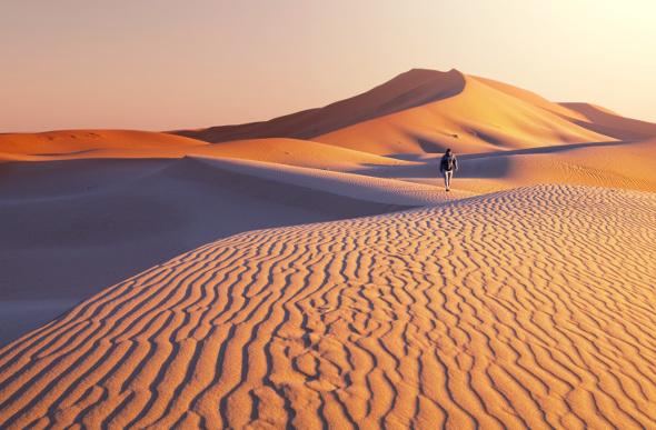 crossing the gobi desert by camel