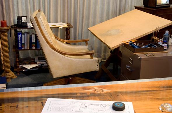 Charles Schulz's desk